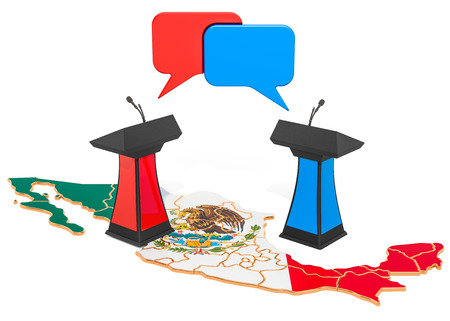 Mexican Debate concept, 3D rendering isolated on white background