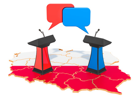 Polish Debate concept, 3D rendering isolated on white background