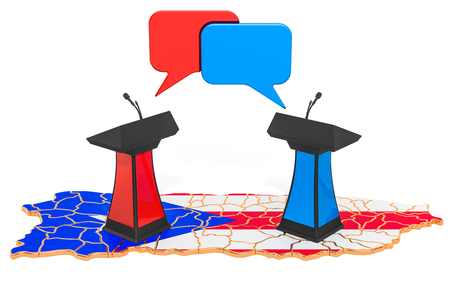 Puerto Rico Debate concept, 3D rendering isolated on white background
