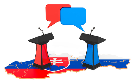 Slovak Debate concept, 3D rendering isolated on white background