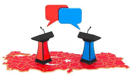 Turkish Debate concept, 3D rendering isolated on white background