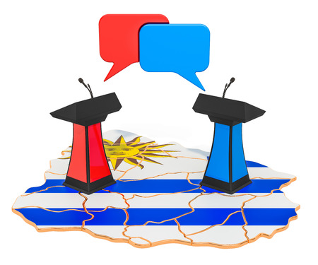 Uruguayan Debate concept, 3D rendering isolated on white background