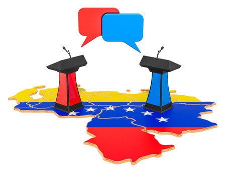 Venezuelan Debate concept, 3D rendering isolated on white background Stock Photo