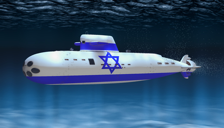 Submarine of Israeli Navy, concept. 3D rendering
