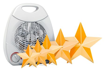 Customer rating of fan heater, concept. 3D rendering isolated on white background Banque d'images - 126203619