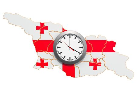 Time Zones in Georgia concept. 3D rendering isolated on white background
