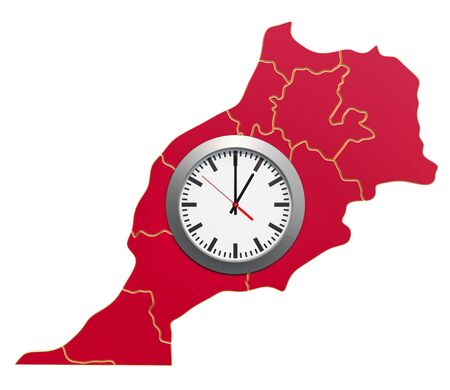 Time Zones in Morocco concept. 3D rendering 写真素材