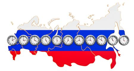 Time Zones in the Russian Federation concept. 3D rendering 写真素材