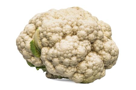 Cauliflower close-up 3d rendering with realistic texture