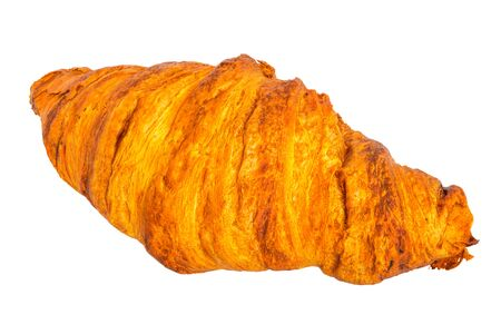 Croissant close-up 3d rendering with realistic texture isolated on white background