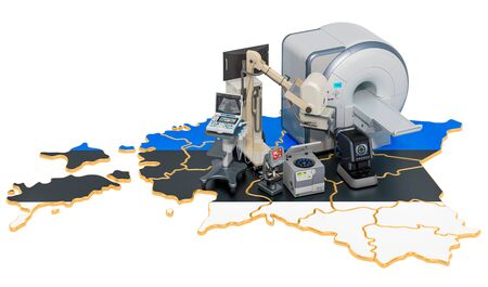 Medical diagnostic and research in Estonia, 3D rendering isolated on white background Stock Photo