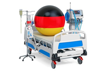 German Healthcare, ICU in Germany. 3D rendering isolated on white background Stock fotó