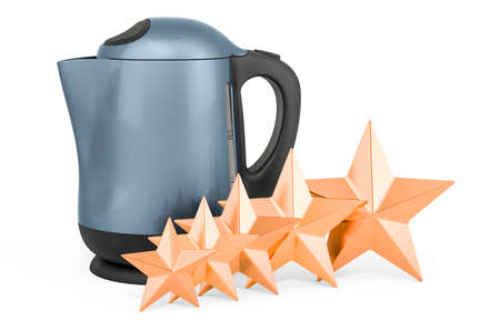 Customer rating of electric kettle, concept. 3D rendering isolated on white background Stock fotó