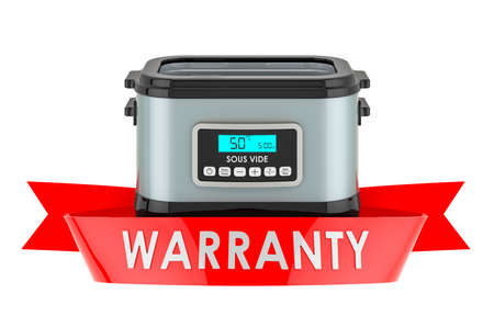 Sous vide machine warranty concept. 3D rendering isolated on white background