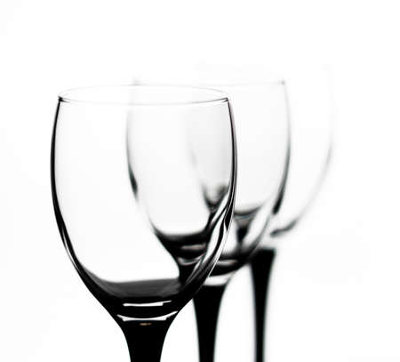 Three glasses with black legs in the outgoing term photo