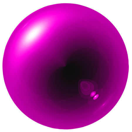 Glare pink  ball isolated on white background photo