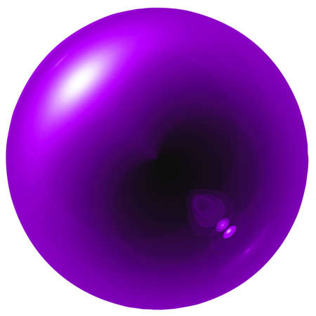 Glare purple ball isolated on white background photo