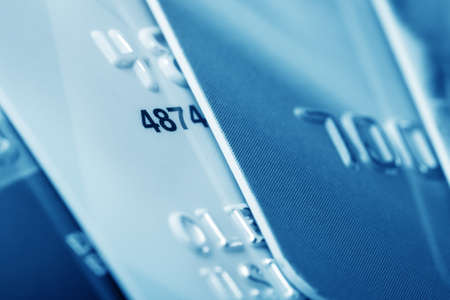 mastercard: Background of credit cards in business colors