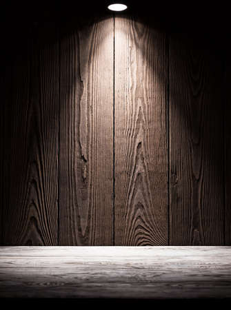 Background texture of wooden boards with illumination from above