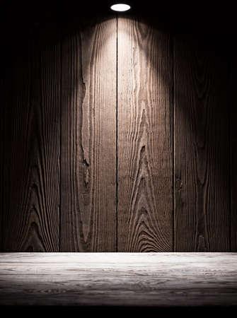 madera rústica: Textura del fondo de tablas de madera con iluminación desde arriba