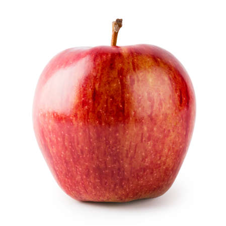 Bright red juicy apple isolated on white background 版權商用圖片