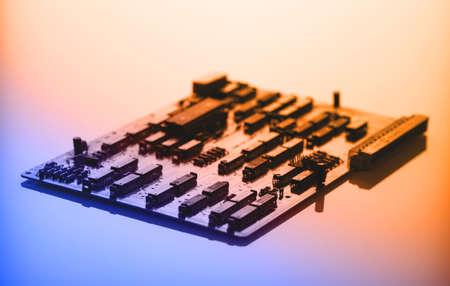 printed circuit: Printed circuit board with processor