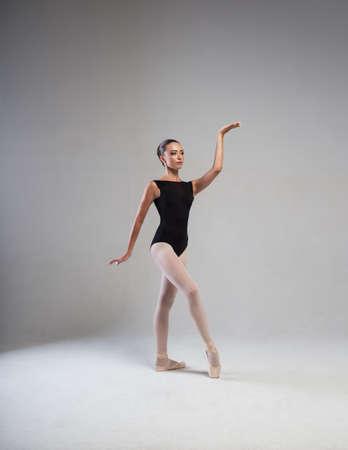 ballerina tights: Stable ballerina in black tights