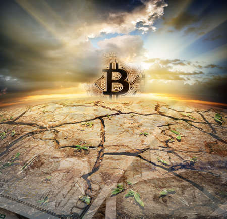 The ascent of the golden bitcoin over the deserted dollar planet