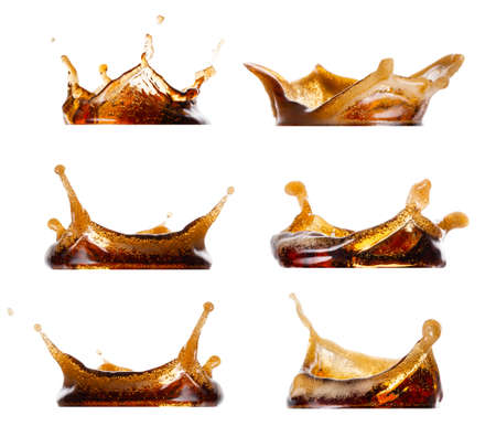 Splash of cola set 免版税图像