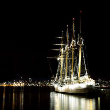 docking: Sailing Ship Esmeralda Docking in Vancouver