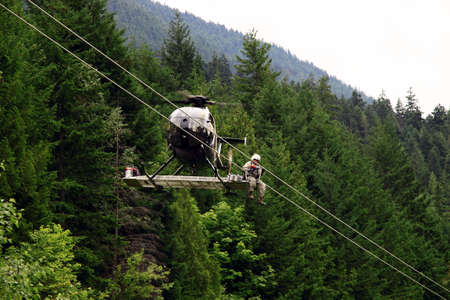 flying man: Using a Helicopter for Electrical Cable Repair
