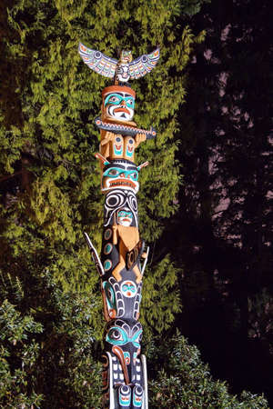 Totem Pole in Stanley Park Vancouver  photo