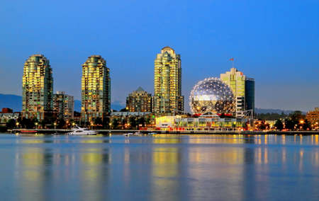 popular science: Vancouver City Downtown Science World museum Vancouver Harbor Editorial