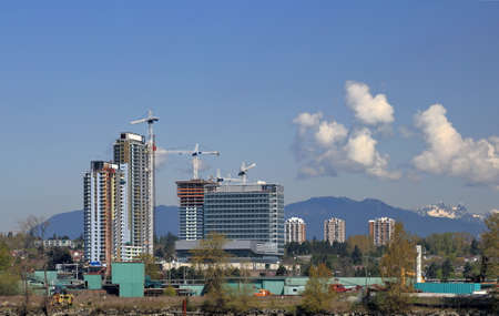 working stiff: Vancouver British Columbia. New construction in the center of city.