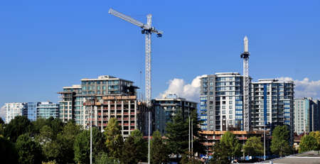 working stiff: New construction of high-rise building in Richmond city