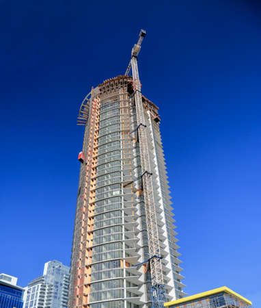 site: Construction  of new high-rise building in the city