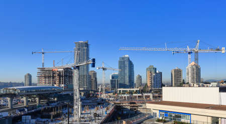 working stiff: New construction of high-rise buildings in Burnaby city
