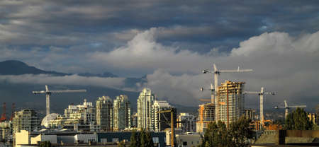 site: Vancouver British Columbia. New construction in the center of city.