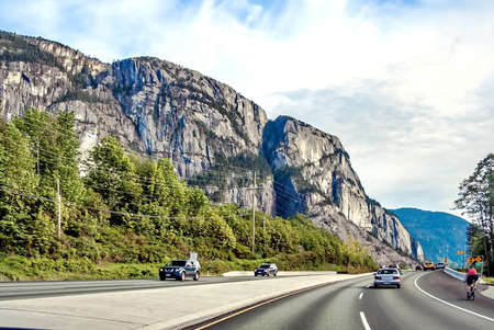 provincial forest parks: Sea to Sky Highway passes through the Stawamus Chief Provincial Park