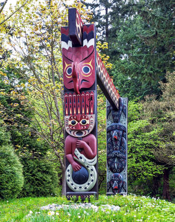stanley: Totem Pole in Stanley Park Vancouver British Columbia