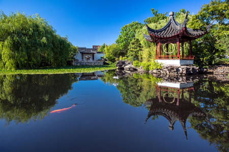 The Dr. Sun Yat-Sen Classical Chinese Garden is located in Vancouver's Chinatown district  Created in the style that is typical of the Ming Dynasty.  Trees, flowers and plants as well as soothing water fountains.