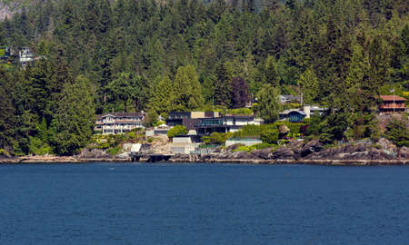 The village is on the shore of the bay on the wooded slope of the suburb of West Vancouver. Horseshoe Bay West Vancouver British Columbia, Canada
