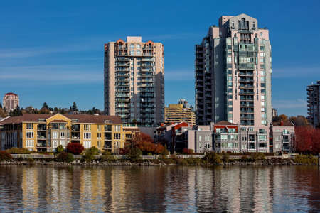 Residential District at the waterfront of New Westminster Downtown