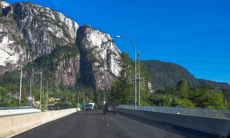 """Tans Canadian Highway """"Sea to Sky"""" passes through the Stawamus Chief Provincial Park"""