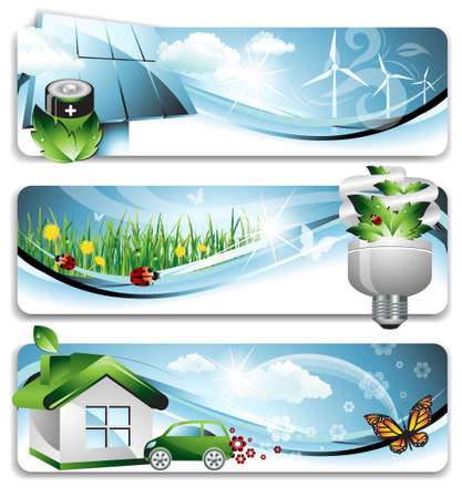 Eco Banners Stock Vector - 12275430