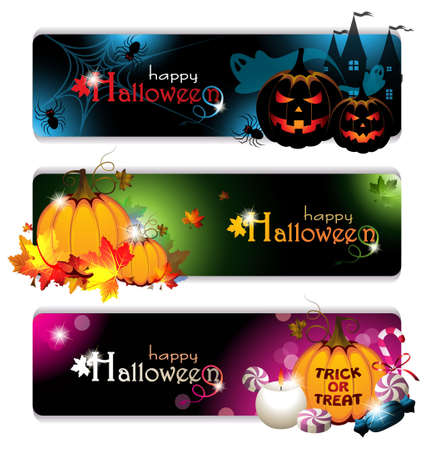 Fancy Halloween Banners Vector