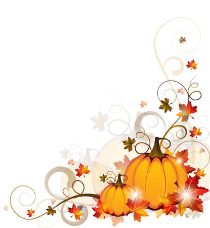 fancy border: Background with Pumpkins