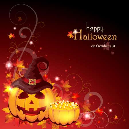 candy corn: Halloween Background Illustration