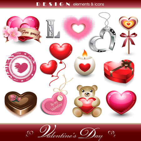 Design Elements and Icons - Valentine s Day Vector