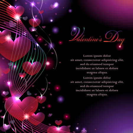 Colorful Valentine s Background